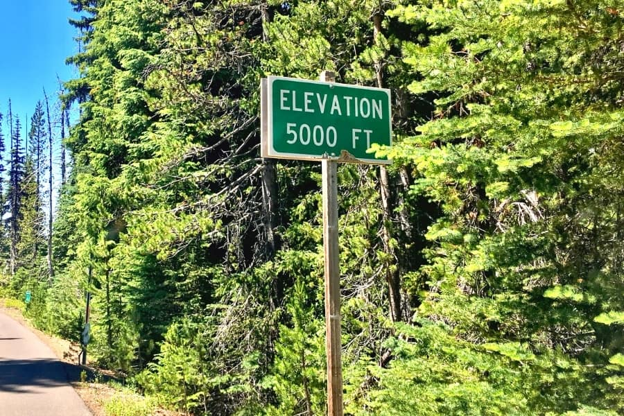 5000 ft elevation sign in the woods to plan your $5000 a month in dividends goal